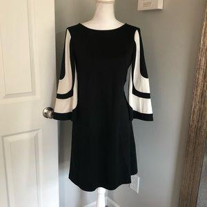Muse Black Dress w/ Decorative Sleeves